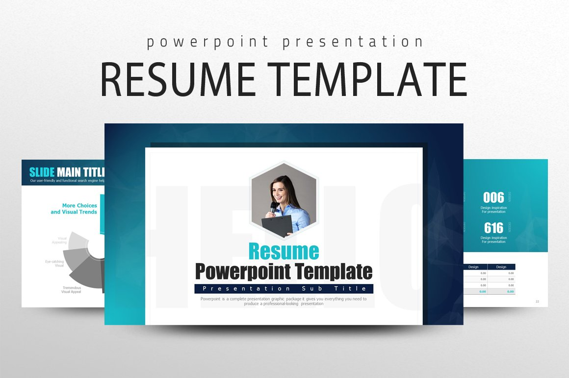 resume powerpoint template presentation templates creative market - Powerpoint Resume Template