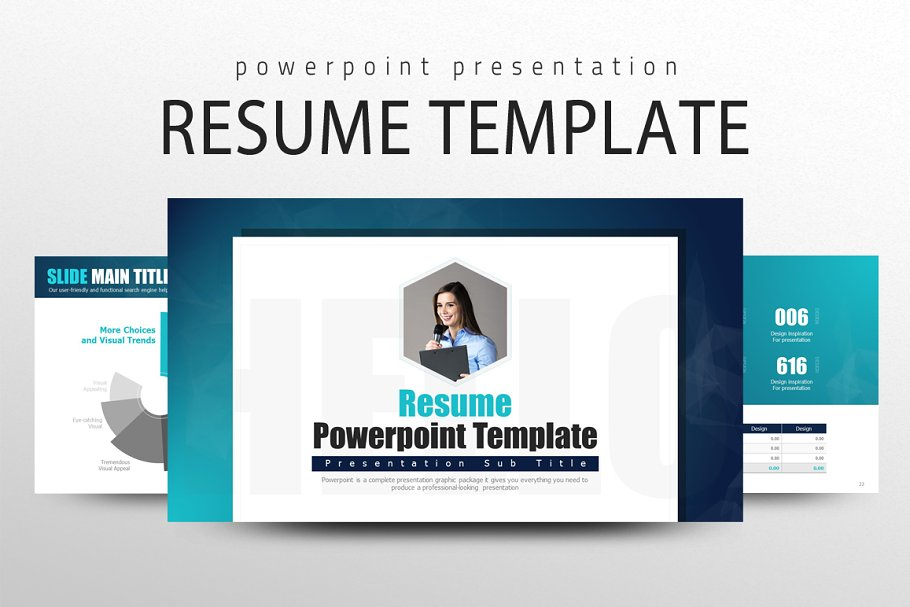 Resume Powerpoint Template Powerpoint Templates Creative