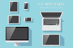Flat Apple Devices - PNG, AI & EPS
