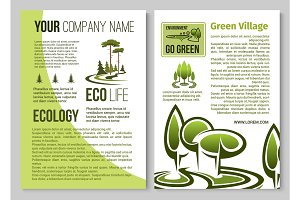 Ecology and environment protection poster design