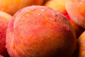 Yellow peaches detail