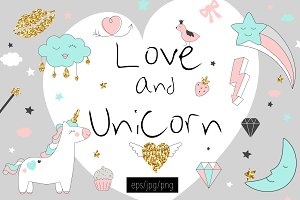 Love and Unicorn magic design