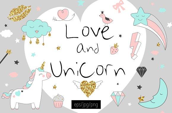 Love And Unicorn Magic Design