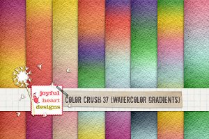Color Crush 37{watercolor gradients}