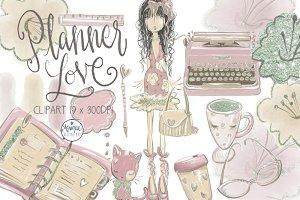 Planner Love Clipart