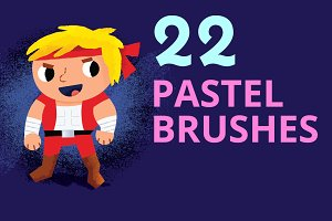 Pastel Brushes for Illustrator