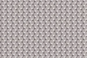 Vector Pattern Gray + White Roses