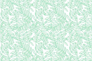 Vector Pattern Mint Leaves Outline