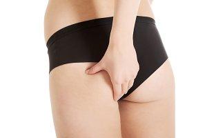 Beautiful woman showing her perfecr fresh buttocks.