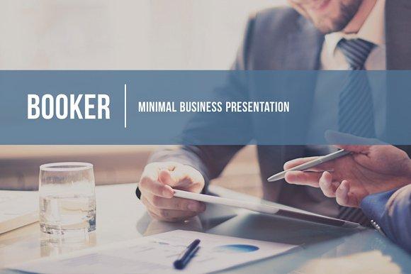 Booker Business Presentation Presentation Templates on – Business Presentation