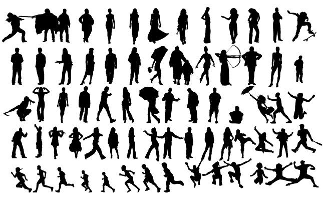 Silhouettes Vector Pack ~ Illustrations ~ Creative Market