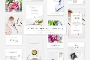 Clean Instagram Stories Pack