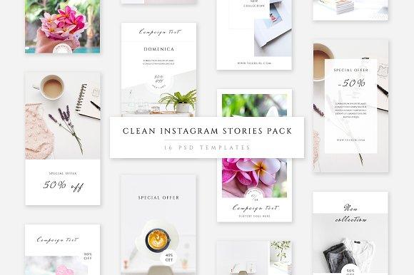 Clean Instagram Stories Pack