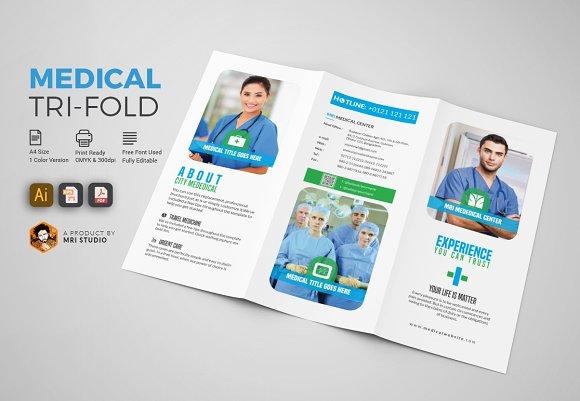medical tri fold brochures brochure templates creative market