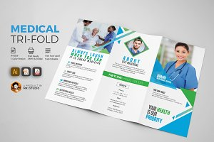 Simple Medical Tri-Fold Brochure
