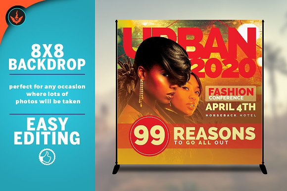 Fashion Conference 8x8 Backdrop 3 in Templates