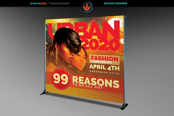 Fashion Conference 8x8 Backdrop 3 in Templates - product preview 1