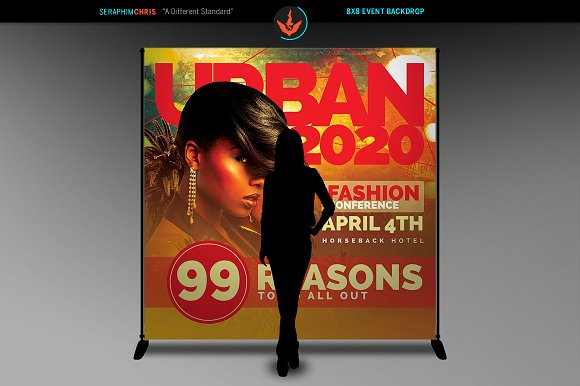 Fashion Conference 8x8 Backdrop 3 in Templates - product preview 2