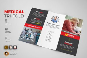 Corporate Medical Tri-Fold Brochures