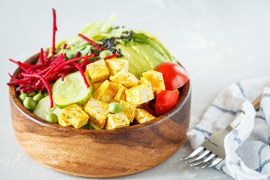 buddha bowl with tofu