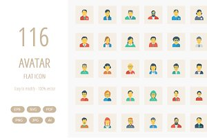 116 Avatar Flat Square icon