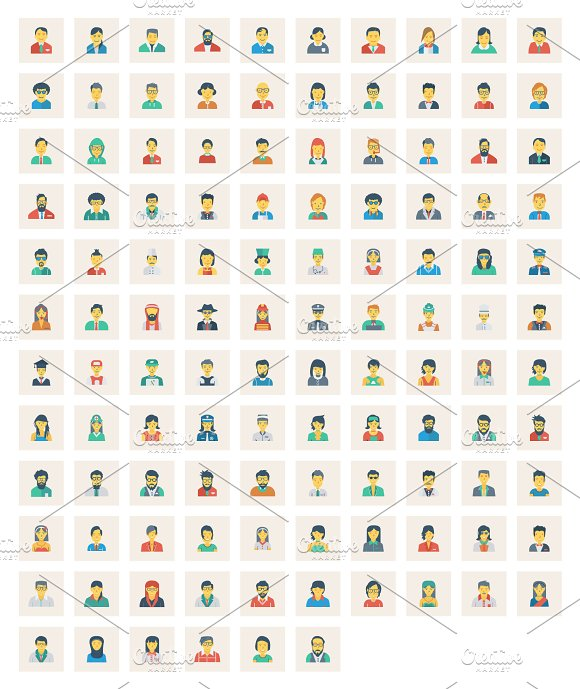 116 Avatar Flat Square icon in Icons - product preview 1