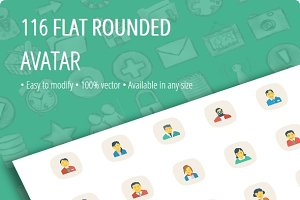 Avatar Flat Square Rounded