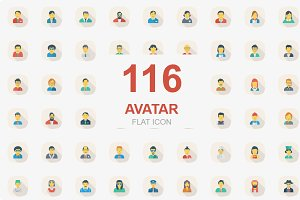 116 Avatar Flat Square Shadow