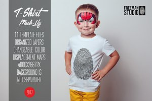 Kids T-Shirt Mock-Up Vol.9 2017
