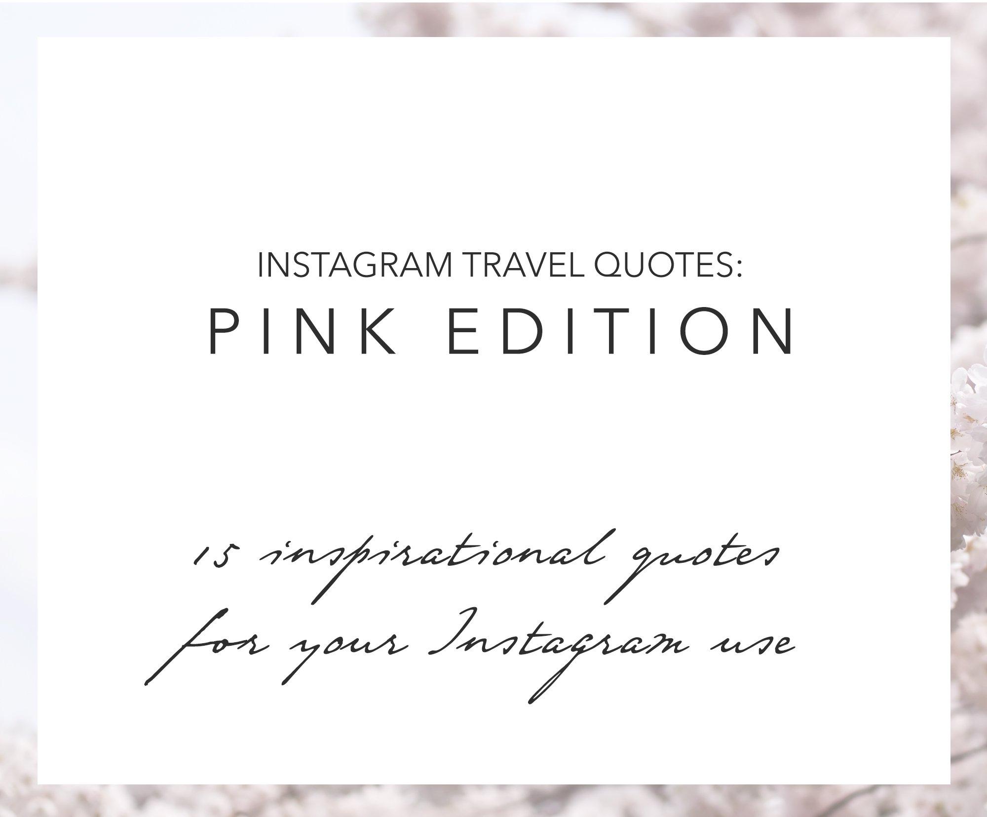15 Instagram Travel Quotes Pink Web Elements Creative Market