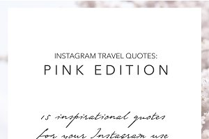 15 Instagram Travel Quotes Pink