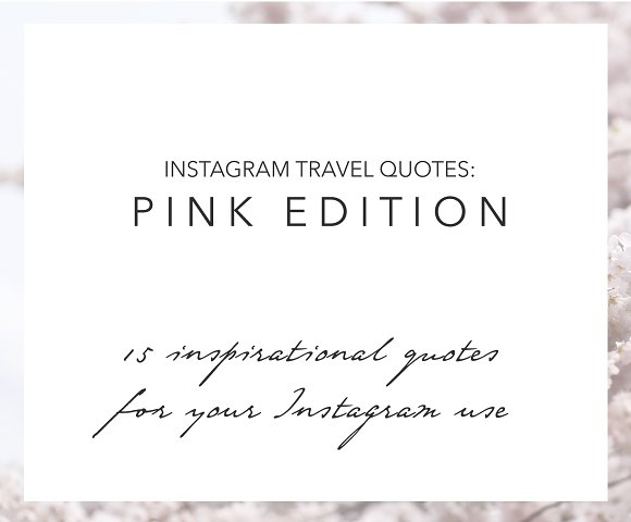 15 Instagram Travel Quotes Pink Web Elements Creative Market