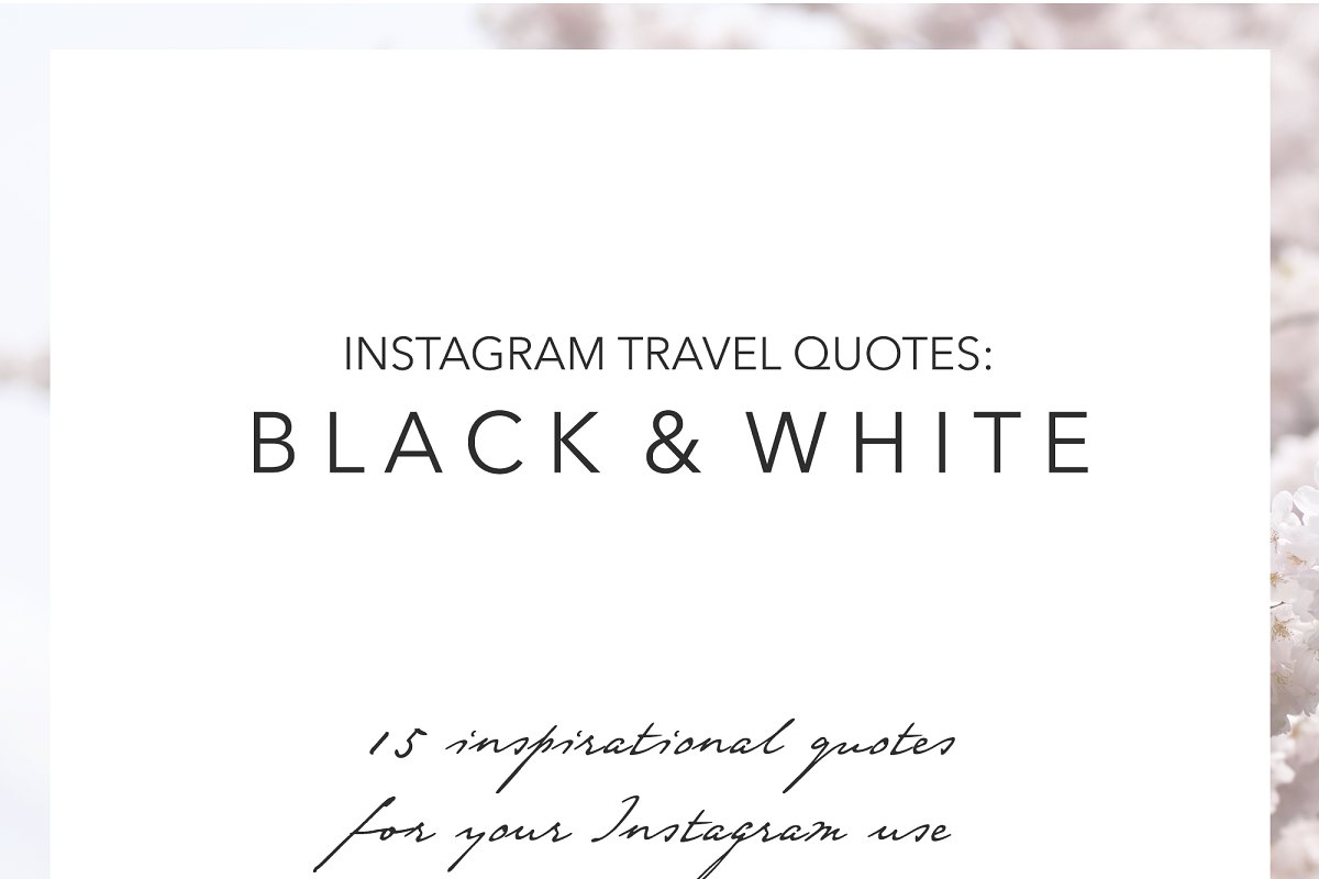 15 Instagram Travel Quotes ~ Graphics ~ Creative Market