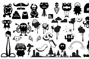 Cute Monster Vector Pack