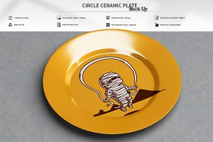 Circle Ceramic Plate Mock-Up