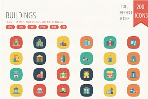 200 Building Square Rounded icons