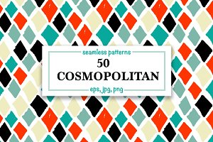 50 Cosmopolitan Seamless Patterns