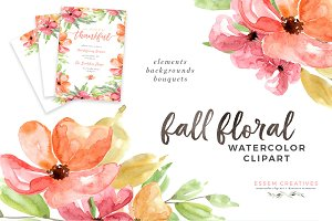 Fall Autumn Watercolor Graphics