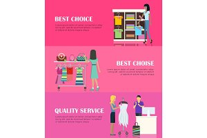 Best Choice Concept. Quality Service Concept