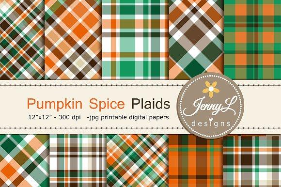 Fall Autumn Plaids Digital Paper