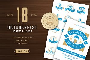 Oktoberfest badges and logos