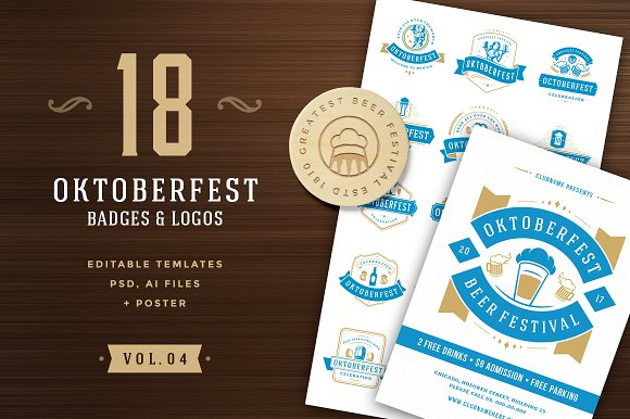 Oktoberfest Badges And Logos