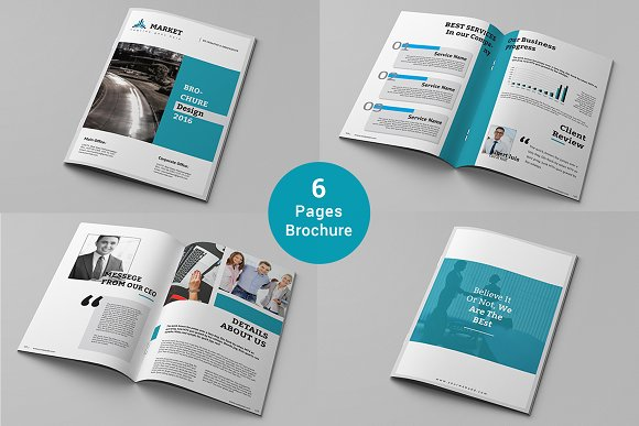 6 pages brochure brochure templates creative market