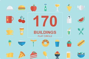 170 Food and Drink Flat icons