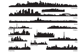 International Skylines Vector Pack