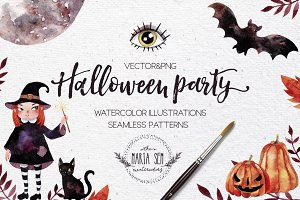 Halloween party PNG&vector
