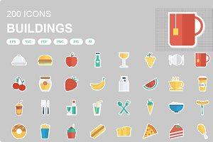 Food and Drink Sticker icons