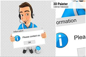 3D Painter Holding Contact Message