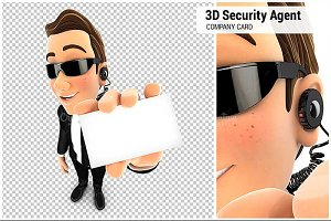3D Security Agent Company Card