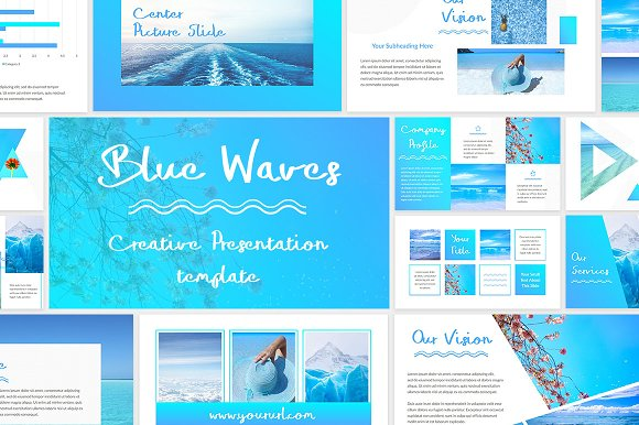 Blue Waves PowerPoint Template